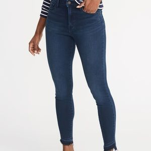 OLD NAVY Frayed hem rockstar jeans